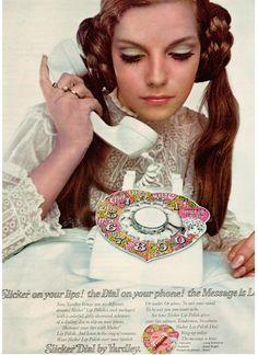 Slicker LIp Polish Telephone Dial by Yardley of London 1968 #60s #makeup