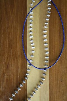 Lapis Azul Choker with Mexican Silver Style by MoonlightJewelryCo