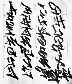 Graffiti Tag alphabet Graffiti Designs, Graffiti Alphabet Styles, Graffiti Lettering Alphabet, Tattoo Lettering Fonts, Grafitti Alphabet, Wie Zeichnet Man Graffiti, Graffiti Tagging, Street Art Graffiti, Graffiti Artists