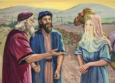When Isaac reached them, the servant told him all of the amazing things that had happened. Description from stepintothestory.ca. I searched for this on bing.com/images