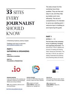33 sites every journalist should know