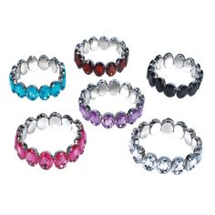 6.5-inch Bling Oval Bracelet (Bulk Pack of 12 Bracelets) at theBIGzoo.com, a family-owned gift shop with 12,000+ animal-themed items.