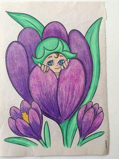 Simple Flower Drawing, Easy Flower Drawings, Oil Pastel Drawings, Art Drawings Sketches, Cute Drawings, Easy Art For Kids, Easy Drawings For Kids, Paisley Art, Kids Art Class