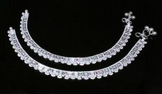Silver Anklets, Silver Jewelry, Anklet Jewelry, Semi Precious Gemstones, Jewelry Sets, Pairs, Jewels, Diamond, Bracelets