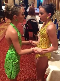 Maddie and Kendall doing bodies electric at sheer talent