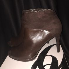 Nine West Booties Brown booties in size 7M.  Very comfortable. In like new condition.  Only worn 2 times.  If interested in making an offer, please use the offer option!! Nine West Shoes Ankle Boots & Booties
