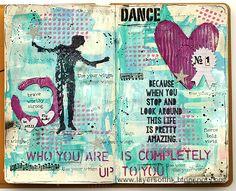 Dance Art Journal Page