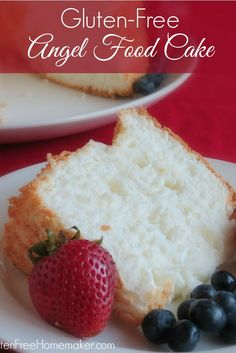 This gluten-free angel food cake truly is heavenly. I think it's one of those recipes where the gluten-free version is better than the version with gluten!