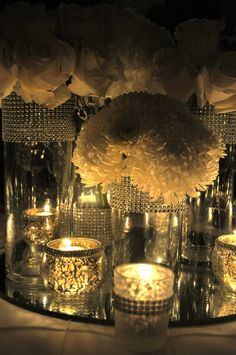 wedding by Emma Corrie Designs. #wedding #barbados # bling # candles