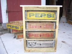 Vintage Soda Pop Crate Side Table by BillsBarn on Etsy, $150.00