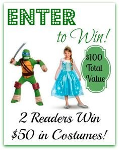 #Giveaway (2) Readers Win $50 Gift Cards from BuyCostumes.com! ($100 Total Value)