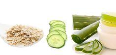 Skincare : Aloe Vera, Oatmeal, and Cucumber Mask