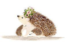 I love you mommy hedgehog Woodland nursery Animal Paintings