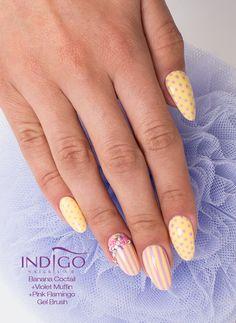 by Paulina Walaszczyk :) Follow us on Pinterest. Find more inspiration at www.indigo-nails.com #nailart #nails #indigo #banana Simple Nail Designs, Nail Art Designs, Banana Cocktails, Nail Lab, Indigo Nails, Yellow Nails, Art Nails, Easy Nail Art, Mani Pedi
