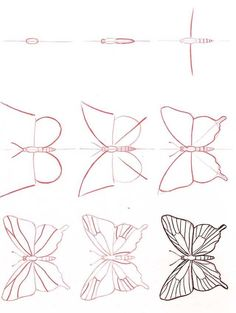Drawing Tutorial Learn to draw: Butterfly Drawing Lessons, Drawing Techniques, Art Lessons, 3d Drawings, Animal Drawings, Butterfly Drawing, How To Draw Butterfly, Drawings Of Butterflies, Learn To Draw