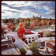 Fayetteville, AR in the fall. Such a beautiful city.
