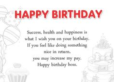 Birthday Wishes For Boss And Card Wordings Funny Love Sad Sms