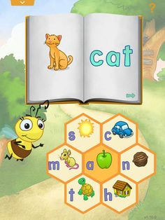"Reader Bee and the Story Tree by Learning Circle Kids LLC ($1.99) Every game in Reader Bee works together to create the golden ""aha"" moment when letters become words, words become stories and your child becomes a reader.   - 30 fun and interactive learning activities - 6 books that kids can read at their own pace or follow along - 6 spelling games for kids to play with word making"