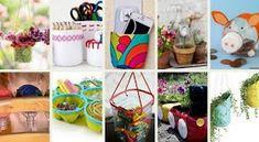 50+ Κατασκευές από Πλαστικά Μπουκάλια Planter Pots, Canning, Decorating, Paper Envelopes, Decor, Decoration, Decorations, Dekoration, Home Canning