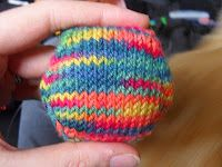 FREE HEXIPUFF PATTERN! I love the knitter that posted this. Read her story.