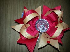 49er stacked hair bow