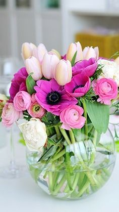 beautiful arrangement of fresh flowers....