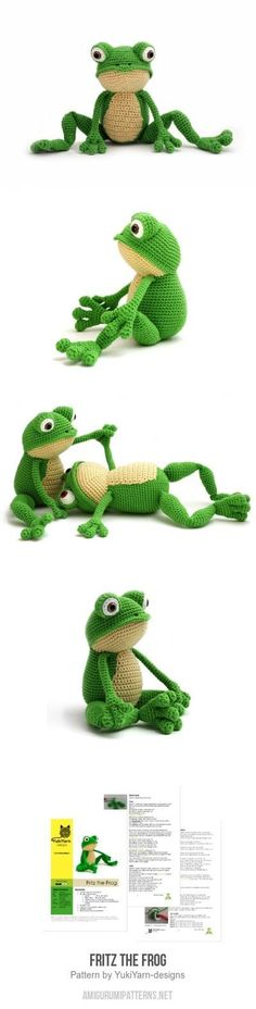 Fritz The Frog Amigurumi Pattern