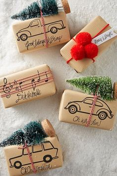 , 21 Christmas gift packaging ideas that make everyone look like a decorative profession . - Winter & Christmas Trents , 21 Christmas gift wrapping ideas that make everyone look like a decorative profession . Christmas Gift Wrapping, Diy Christmas Gifts, Holiday Gifts, Christmas Decorations, Christmas Christmas, Christmas Packages, Homemade Christmas, Simple Christmas, Ideas For Christmas Gifts