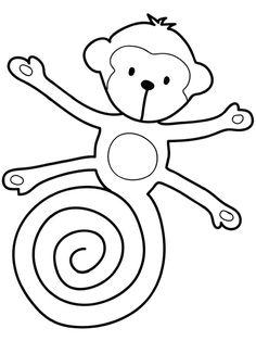Actividad para el cuento Gorilón de Jeanne Willis y Tony Ross. Mono para colorear.