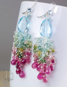 RESERVED for E. ... Paraiso earrings by JewelleryHaven on Etsy