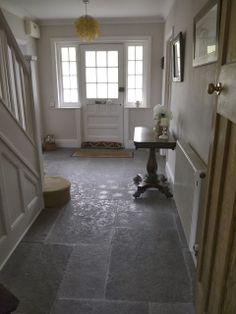 Hallway – Home Decor Designs Edwardian Hallway, Edwardian House, Foyer Flooring, Brick Flooring, Floors, Dulux White Paint, Best Carpet For Stairs, Hallway Paint Colors, Houses