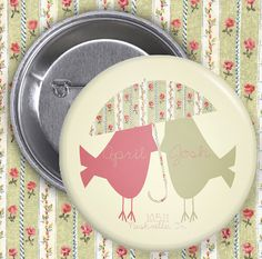 Love Birds / Save The Date / Wedding Favor by Bisforbuttons, $3.00