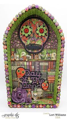 Lori created this incredible Day of the Dead piece using Rare Oddities and the Art-C Groove Tool!