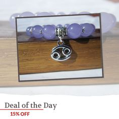 Today Only! 15% OFF this item.  Follow us on Pinterest to be the first to see our exciting Daily Deals. Today's Product: Cancer Sign Bracelet Cancer Zodiac Sign Charm Bracelet Cancer Horoscope Gemstone Bracelet Cancer Zodiac Birthstone Gemstone Charm Bracelet Buy now: https://www.etsy.com/listing/250749572?utm_source=Pinterest&utm_medium=Orangetwig_Marketing&utm_campaign=Daily%20SAle   #instajewelry #etsy #etsyseller #etsyshop #etsylove #etsyfinds #etsygifts #musthave #loveit #instacool…