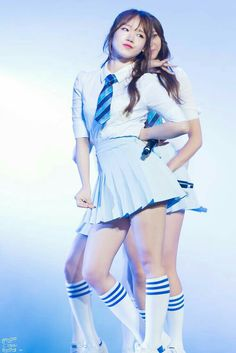 Stage Outfits, School Outfits, Female Girl, Ioi, Knee Socks, Kpop Girls, Thighs, Girl Fashion, Ballet Skirt