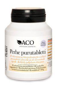 ACO Perhe - 22 vitamins suplement  chewing tablet - ACO Hud Nordic Ab - Apteekkituotteet.fi
