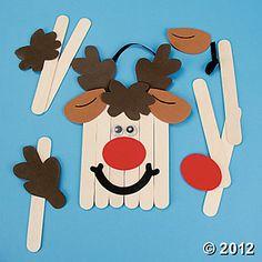 Craft Stick Reindeer Banner Craft Kit, Decoration Crafts, Crafts for Kids, Craft & Hobby Supplies - Oriental Trading