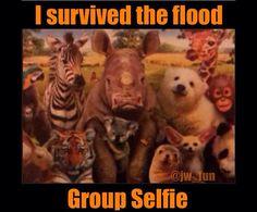 Group selfie – I survive the flood
