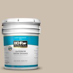 BEHR Premium Plus Home Decorators Collection 5-gal. #hdc-AC-10 Bungalow Beige Zero VOC Satin Enamel Interior Paint