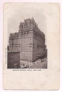 1000 images about antique postcards vpr on pinterest for Waldorf astoria antiques