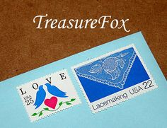 LOVELY LACE .. Unused Vintage US Postage Stamps enough for you to mail 5 letters sold by TreasureFox, $12.00