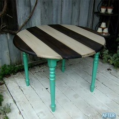 Paint up old thrift furniture for kids play table