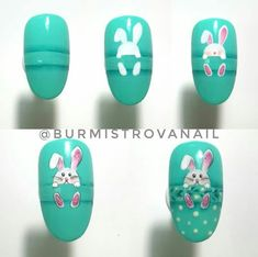 Nail art is a very popular trend these days and every woman you meet seems to have beautiful nails. It used to be that women would just go get a manicure or pedicure to get their nails trimmed and shaped with just a few coats of plain nail polish. Easter Nail Designs, Easter Nail Art, Best Nail Art Designs, Nail Art Diy, Cool Nail Art, Diy Nails, Shellac Nails, Gel Nail, Uv Gel
