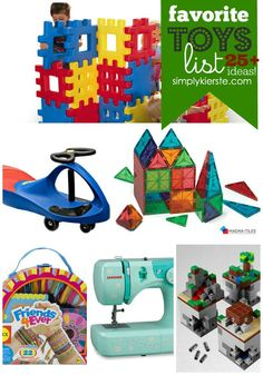 25+ Favorite Toys List from a mom of 6! Great ideas for Christmas gifts and birthday gifts! Ages 3-10 simplykierste.com