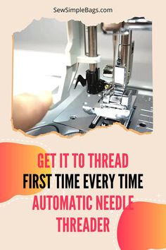 How to use the automatic needle threader on your sewing machine. What to do when the automatic needle threader isn't working and why. This video shows a close up of how the automatic needle threader works on my Brother sewing machine, and explains about the tiny hook that goes through the eye of the needle. I share tips with you to make the needle threader work first time every time. Easy sewing tips for beginners. How to use a sewing machine. Sewing Lessons, Sewing Hacks, Sewing Tutorials, Sewing Tips, Tutorial Sewing, Video Tutorials, Free Sewing, Easy Sewing Patterns, Bag Patterns To Sew