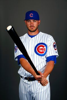 Kris Bryant of the Chicago Cubs poses during a spring training photo shoot on February 2016 in Mesa, Arizona. - 1 of 54 Baseball Guys, Chicago Cubs Baseball, Baseball Players, Softball, Cubs Players, Baseball Quotes, Chicago Bears, Cubs Pictures, Cubs Gear