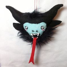 Krampus Plush Ornament by Wonky Critters