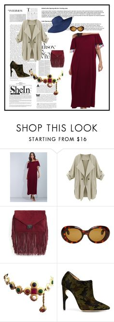 """""""THE SOLIDER and THE SUNdress SWAG #CAMOisALWAYSstyleAMO"""" by g-vah-styles ❤ liked on Polyvore featuring Loeffler Randall, Acne Studios, Chanel and Jerome C. Rousseau"""
