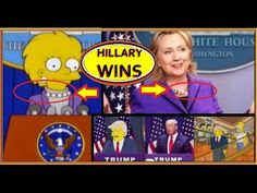 """SIMPSONS Predict HILLARY will be PRESIDENT - AFTER TRUMP destroys the NATION! ('Lisa"""" as Hillary)"""