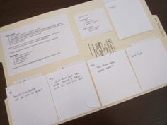 Set up a research folder to sort and hold notecards. Easy way to get kids to write a research paper.